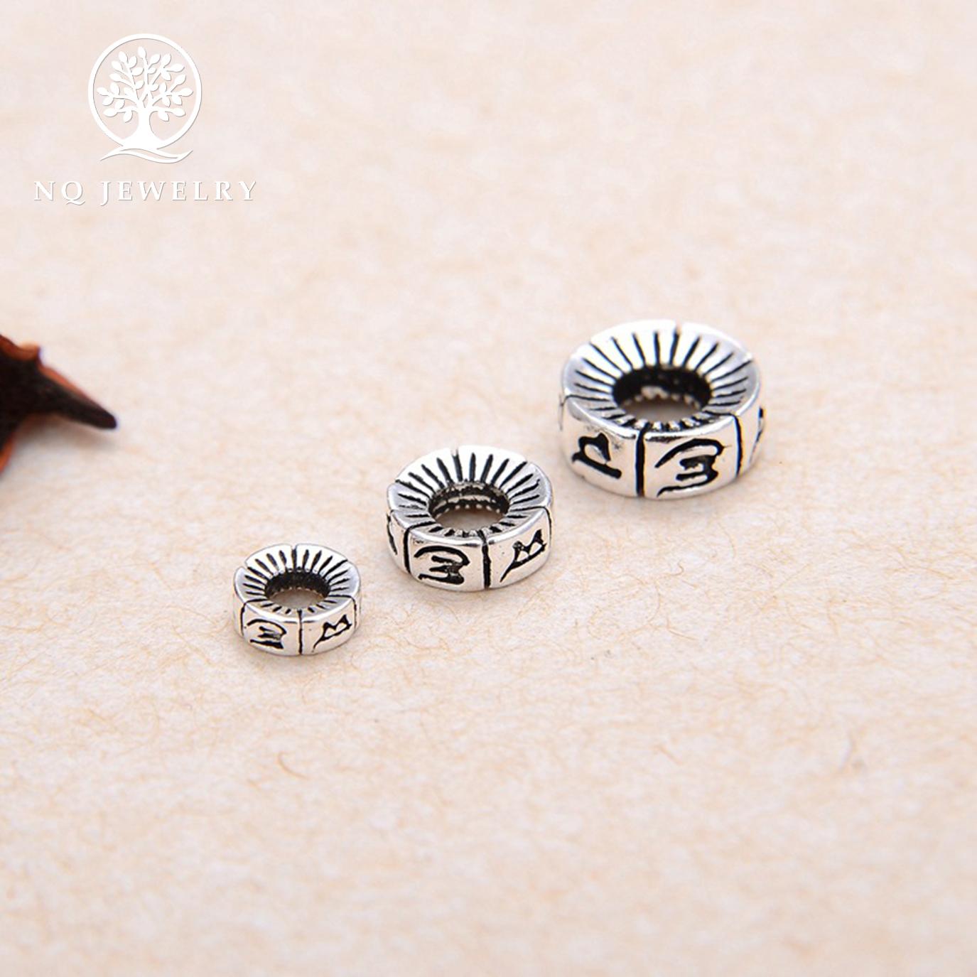 [HCM]Charm bạc chặn hạt lục tự minh chú - NQ Jewelry
