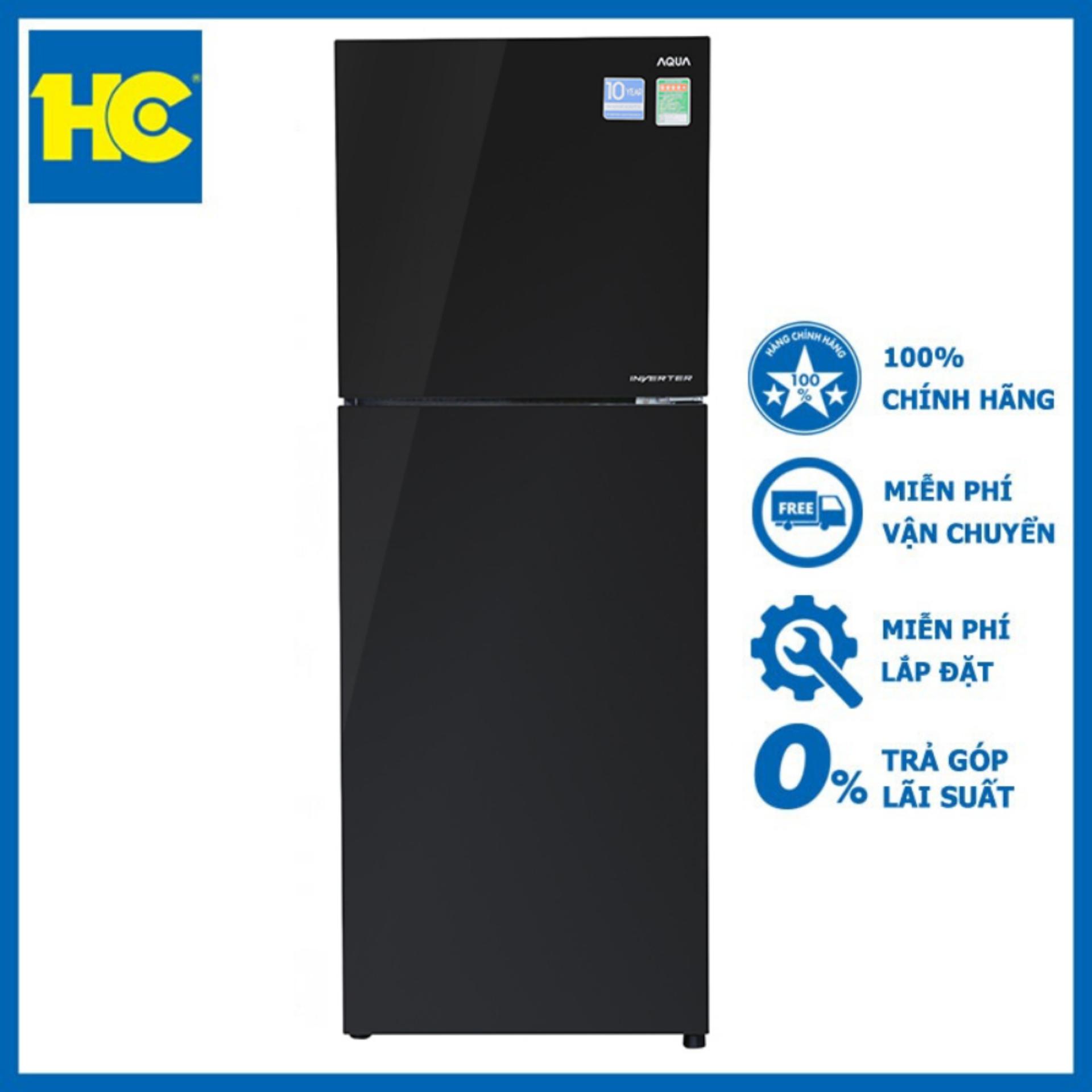 Tủ lạnh Aqua Inverter 318 lít AQR-IG356DN(GBN) ?en – Miễn phí vận chuyển & lắp đặt – Bảo hành chính hãng