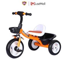 [Quà tặng không bán] Xe Đạp 3 Bánh Ghế Ngồi Da S400 Cho Bé (Có giỏ và hộp đựng đồ)