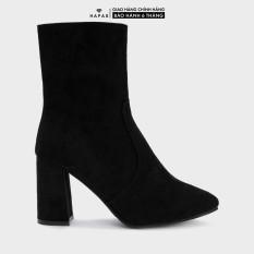 Giày Bốt Nữ Boot Cổ Cao Khóa Cạnh HAPAS – BOT52