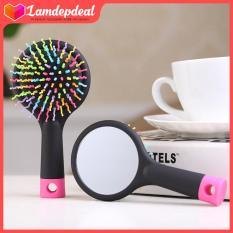 Lamdepdeal – Lược chải tóc Rainbow kèm gương 2IN1 – Phụ kiện làm đẹp không thể thiếu của bạn gái- Dụng cụ làm tóc