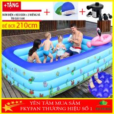 ( TẶNG BỘ VÁ BỂ – BƠM ĐIỆN) Bể bơi phao cho bé 3 tầng 2m1 ,Bể Bơi Trẻ Em Hồ Bơi Trong Nhà, bể bơi cho be, bể bơi cho người lớn Mua Ngay Bể Phao Bơi 3 Tầng Cao Cấp – BB2M1