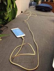 Cáp sạc siêu nhanh cho Iphone, Samsung bọc dù-chống đứt, dài 3m SIÊU TIỆN DỤNG
