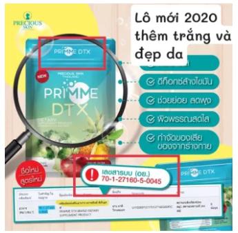 60 viên Khử mỡ Detox Primme 2020 chiết xuất rau củ -cam kết hàng chính hãng