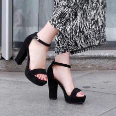 Giày cao gót đúp 12cm bản ngang bít gót