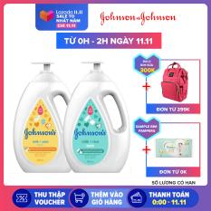 Bộ 2 chai Sữa tắm sữa & gạo Johnsons Milk Rice + Sữa tắm sữa & yến mạch Johnsons Milk Oats 1000ml x 2 – 540018227 – Giới hạn 3 sản phẩm/khách hàng