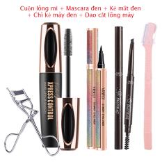 VIBELY Mascara 4D mi dài chống nước làm dày và cong mi lông mi trang điểm mắt an toàn cho bữa tiệc – INTL