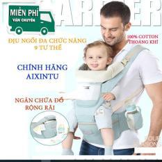 (BẢO HÀNH 1 ĐỔI 1) Địu em bé có đỡ đầu và ngăn chứa đồ Aixintu Forbaby cho trẻ 0-36 tháng – địu ngồi đa năng 9 tư thế cho bé babycity store