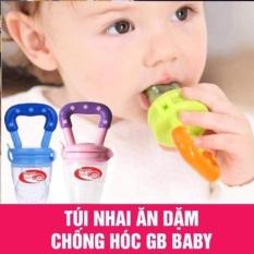 [Lấy mã giảm thêm 30%]Túi nhai ăn dặm chống hóc cho bé gb baby hàn quốc có cấu tạo túi nhai bằng silicon mềm giống như núm ti mẹ hay cho bé bú bình nên đặc biệt an toàn cho các bé