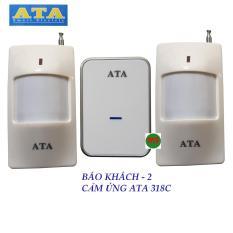 Bộ chuông – 2 MẮT cảm biến hồng ngoại báo khách ATA 318C – tiếng chuông hay và lớn