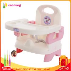 Ghế ăn dặm tiện lợi gấp gọn 3 chế độ cho bé thiết kế khay rộng rãi thoải mái để thức ăn và đồ chơi cho bé kèm quà tặng
