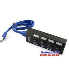 Hub USB 3.0 4 cổng Sport có công tắc (Đen)