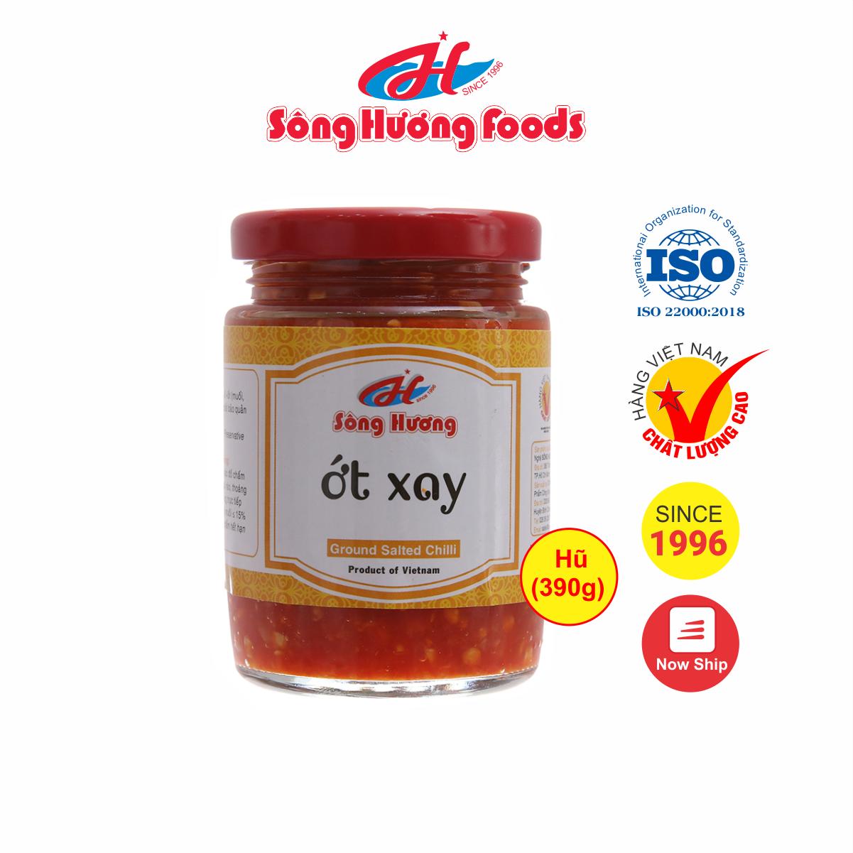 Ớt Tươi Xay Sông Hương Foods Hũ 390g