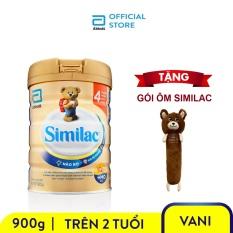 Lon sữa bột Similac IQ 4 900g tăng cường miễn dịch tự nhiên hệ tiêu hóa khỏe mạnh phát triển trí não ưu việt Tặng Gối ôm Similac