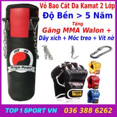 Vỏ bao cát đấm bốc boxing + Găng tay đấm bốc mma – Thiết bị tập đấm bốc boxing tại nhà, giúp rèn luyện thể lực, và khả năng phản xạ