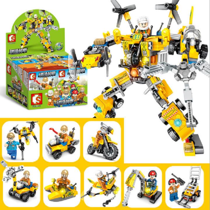 Bộ lắp ráp kiểu lego Sembo – Mô hình robot 603061