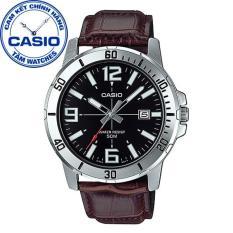 Đồng hồ nam dây da Casio Standard Anh Khuê MTP-VD01L-1BVUDF