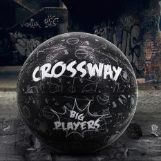 Bóng Rổ Số 7 Crossway Đen (Tặng bơm mini, túi rút, băng tay, kim và lưới)