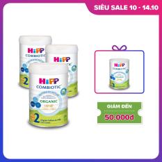 Combo 3 lon sữa bột dinh dưỡng công thức HiPP 2 Organic Combiotic chất lượng hữu cơ tự nhiên an toàn, bổ sung Omega 3 (DHA & ALA) dành cho trẻ từ 6 đến 12 tháng tuổi (3 lon x 800g)