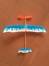 Máy bay dây chun bằng xốp kich thước lớn ( máy bay dây thun)