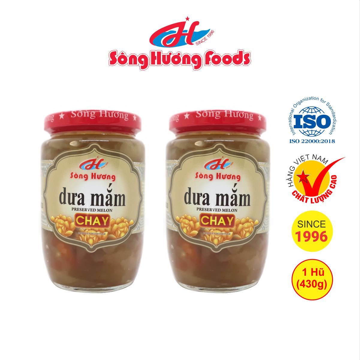 2 Hũ dưa mắm chay Sông Hương Foods hũ 430g