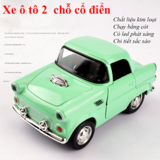 Xe mô hình đồ chơi ô tô 2 chỗ chất liệu kim loại chạy cót có led phát sáng, phong cách cổ điển, màu sắc đa dạng, đẹp, có thể làm đồ trưng bày, tặng làm kỉ niệm. (màu ngẫu nhiễn)