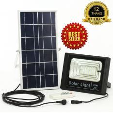 ĐÈN NĂNG LƯỢNG MẶT TRỜI SOLAR LIGHT JD-8820 công suất 25W công nghệ IP67 chống nước, Pin 9600mah, chế độ bật tắt tự động, có điều khiển từ xa
