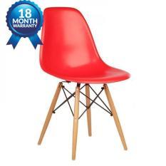 Kachi – Ghế nhựa Eames chân gỗ FP-235 (E1) (màu đỏ) – Thanh lý hàng trưng bày