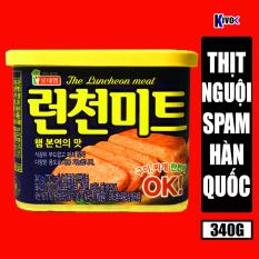 [NẮP VÀNG] Thịt Nguội Spam Hàn Quốc The Luncheon Meat 340G – Thịt Hộp Ham / Thịt Heo Nhập Khẩu Đóng Hộp / Đồ Hộp Ăn Liền Hàn Quốc – Kivo