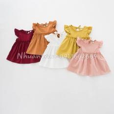 Váy bé gái (váy đũi) chất liệu vải Đũi cao cấp size 5-19 kg