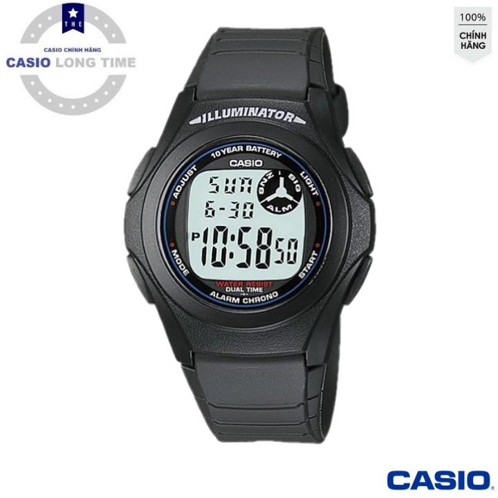 Đồng hồ nam dây nhựa Casio F-200W-1ADF – Viền Xanh – Tuổi Thọ Pin 10 Năm- Chống Nước , đồng hồ nam , đồng hồ điện tử , đồng hồ nữ , đồng hồ chống nước