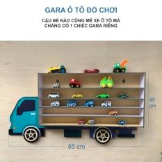 Giá để xe ô tô đồ chơi bằng gỗ, treo tường cho con trai