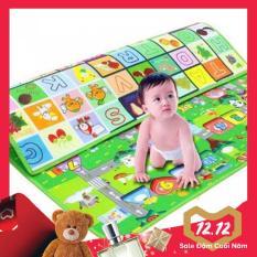 Thảm xốp chơi an toàn cho bé 2 mặt Maboshi kích thước 1m8 X 2m – Chất lượng Nhật Bản