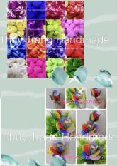 Combo 10 cuộn vải voan (20 sợi) làm hoa voan