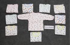 Combo 5 áo cotton dài tay cho bé sơ sinh loại 1 vải cotton cao cấp mềm mịn và thoáng mát cho bé yêu