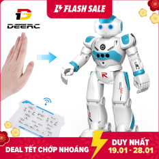 Robot Đồ Chơi Thông Minh DEERC Cho Trẻ Em Bé Trai Robot Điều Khiển Từ Xa Lập Trình Thông Minh Với Cảm Biến Bằng Cử Chỉ Đi Bộ, Nói Chuyện Hát Khiêu Vũ, Phù Hợp Làm Quà Tặng – intl