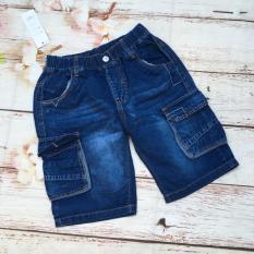 Quần bé trai lửng jean lưng thun túi hộp size đại từ 36kg đến 57kg – QT270