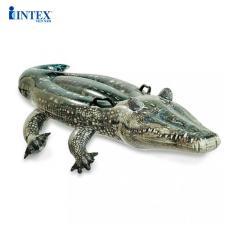 Phao bơi cá sấu to có 2 tay cầm INTEX 57551 – Phao bơi cho bé, Phao bơi trẻ em