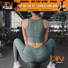 [Lấy mã giảm thêm 30%]Đồ Tập Gym Yoga Nữ Bộ Quần Dài Áo Bra Kèm Mút Cao Cấp Bin Sports BD051