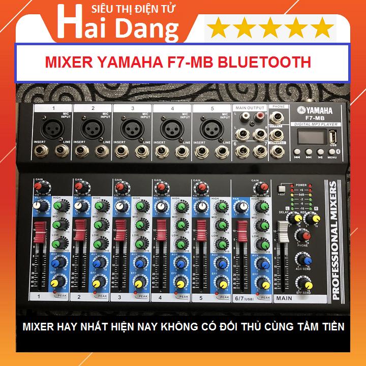 Mixer F7-MB Bluetooth Hát Livestream Karaoke Tặng Giắc 6.5 Ra 3.5 Bàn Mixer F4 USB Dòng Có Bluetooth Bộ Lọc Âm Thanh Tiêu Chuẩn Mixer Yamaha F7-MB Wireless dòng có Bluetooth – Bộ Chọn Âm Thanh, Bàn Mixer F4 USB Có Bluetooth, Tặng Giắc 6,5