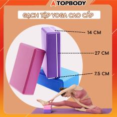 Gạch tập yoga cao cấp, gạch tập yoga cứng cáp dụng cụ tập Yoga tại nhà TOPBODY – GACHT01