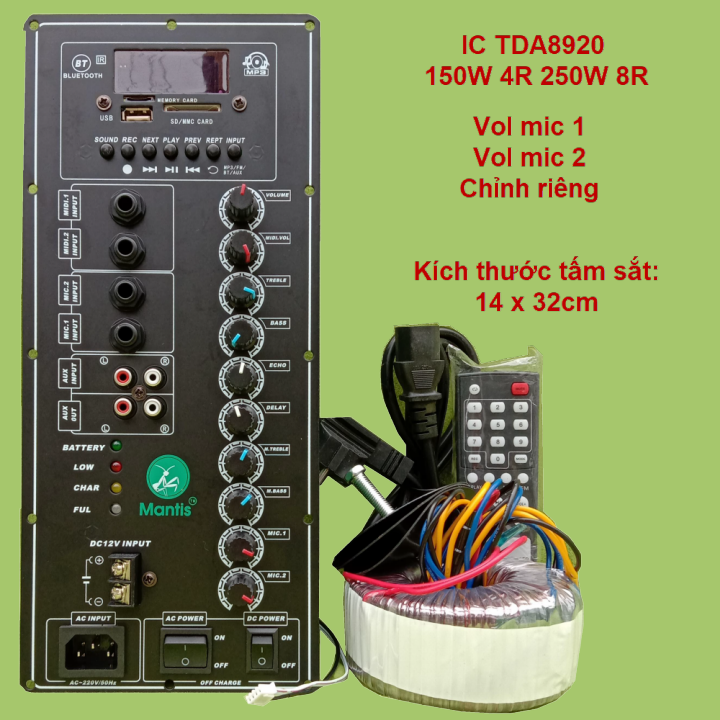 Mạch loa kéo công suất 150W – 250W TDA8920 loa kéo 4 tấc đến 5 tấc v1