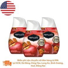 Bộ 3 Sáp thơm phòng Renuzit Apple Cinnamon 198g – Nhập khẩu Mỹ