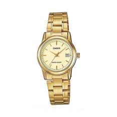 Đồng hồ nữ dây thép không gỉ Casio LTP-V002G-9AUDF (Vàng)
