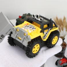 Xe Jeep đồ chơi ô tô cho bé chạy pin AA chi tiết sắc sảo, nhựa ABS an toàn cho người sử dụng (màu vàng – chưa kèm pin)