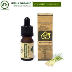 TINH DẦU SẢ CHANH HỮU CƠ UMIHOME nguyên chất | Lemongrass Essential Oil 100% Organic 10ml