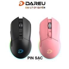 Chuột không dây Gaming Dareu EM901 Pink / Black – Wireless Sử dụng pin sạc