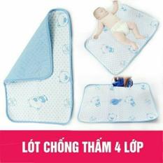 Tấm/ miếng lót chống thấm 4 lớp hàng đẹp cho bé, kích thước 50x70cm hàng loại 1