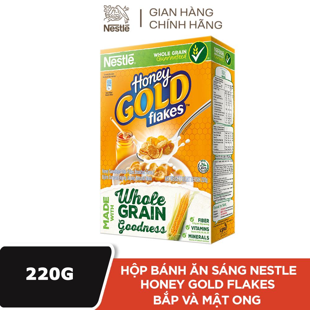[FREESHIP 20K ĐƠN 30K] Ngũ cốc ăn sáng Nestle Honey Gold Flakes vị Bắp và Mật Ong – Hộp 220g