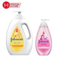 Bộ sản phẩm sữa tắm chứa sữa và yến mạch 1000ml & dầu gội óng mượt shiny 500ml